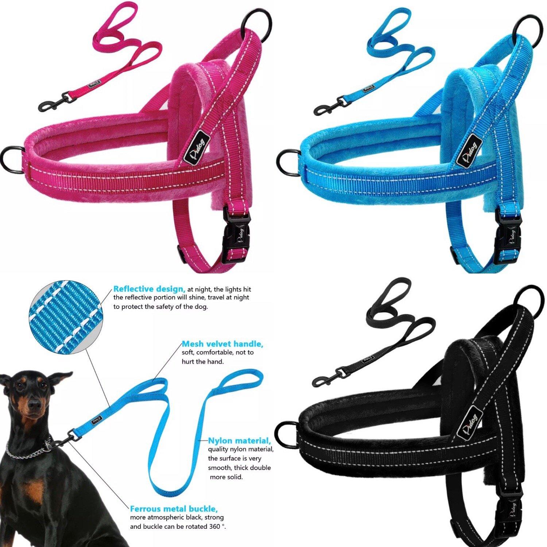 Reflective Harness Leash Pet Set XXS-L No Pull Set Quick Fit Reflective Strap Vest Puppy Dogs