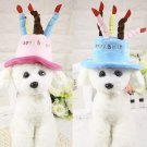 Happy Birthday Cake Pet Hat Accessory Puppy Dog Kitten Cat Party Accessories Special Event Prop