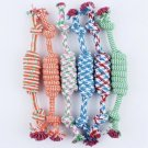 woven rope knot pet chew toy puppy dog play healthy pets supplies interactive toys
