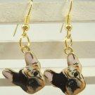 Dog Handmade Drop Earrings French Bulldog Boston Terrier Animal Charm Print Dangle Fashion Jewelry