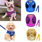 Bling Sequins Pet Harness Leash S-L Set Puppy Dog Walking Kitten Cat Sequence Glitter Sparkly Leads