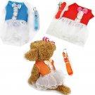 Tutu Skirt Dress Pet Harness Leash S-L Set Clothes Princess Puppy Dog Kitten Cat Outdoor Walk