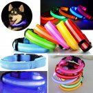 Luminous LED Light Pet Collar S-XL Puppy Dog Kitten Cat Fascinating Flashing Night Safety Dog Walk