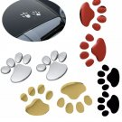 3D Dog Paws Car Stickers Pair Pawprint Waterproof Sunproof Body Individuation Pet Puppy Footprint