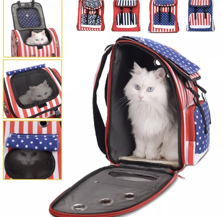 Pet Backpack Carrier Travel Outdoors Dog Bag Puppy Purse Cat Luggage Multifunction Portable Holder