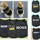 Police K-9 Unit Security Boss XS-L Pet Clothes Summer Apparel Costumes Puppy Dog Cat Vest Clothes