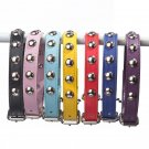 Studded Faux Leather Collar S-XL Studs Crystal Mushroom Adjustable Pet Puppy Dog Kitty Cat Collars