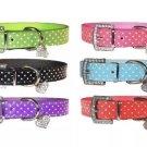 Rhinestone Heart Polka Dot Buckle Collar Adjustable Neck Strap Pet Puppy Dog Cat