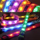 Disney Pluto Nylon LED Pet Collar S-L Puppy Dog Cat Night Safety Light-up Flashing Glow in the Dark
