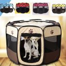 Small Pet Puppy Dog Kitten Cat Playpen Tent Portable Exercise Fence Outdoor Kennel Cage Crate Bag