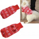 Red Snowflake Pet Sweater XS-2XL Puppy Dog Kitten Cat Knit Coat Jacket Apparel Winter Clothes