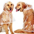 Transparent Pet Rain Coat 3XL-6XL Large Dog Waterproof Outdoor Protection Clothes Rain Jacket