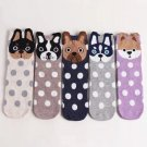 1Pair Pet Owners Fashion Cartoon Unisex Socks Puppy Dog Face Warm Cotton Floor Sock Shoes
