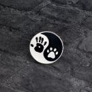 Paw Print Hand Print Pin Brooch Badge Ying Yang Pet Puppy Dog Owner Clothes Backpack Accessory