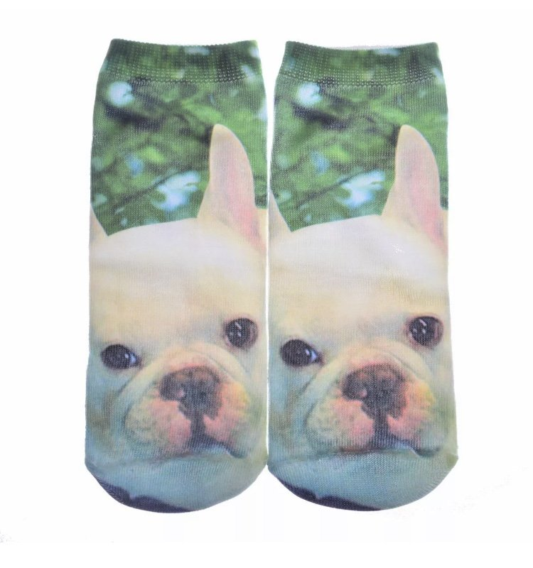 French Bulldog 3D Printed Graphic Ankle Socks Pet Puppy Dog Owners Pawrents Harajuku Funny Cozy Feet