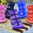 Pet Winter Warm Shoes Puppy Dog Snow Boot Anti-slip Booties Protective Paws Leather Cashmere Boots