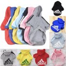 Adidog Pet Pullover Hoodie XS-2XL Sweater Pet Puppy Dog Apparel Clothes Fashion Style Jacket