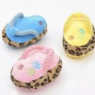 Slipper-shaped Plush Pet Toy Puppy Dog Slipper Sandal Shoe Interactive Play Chew Toys