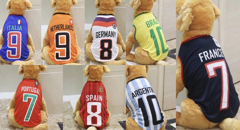 Futbol Soccer Pet Jerseys 3XL-6XL Dog Soccer Sports Fan World Cup Countries Teams Clothes