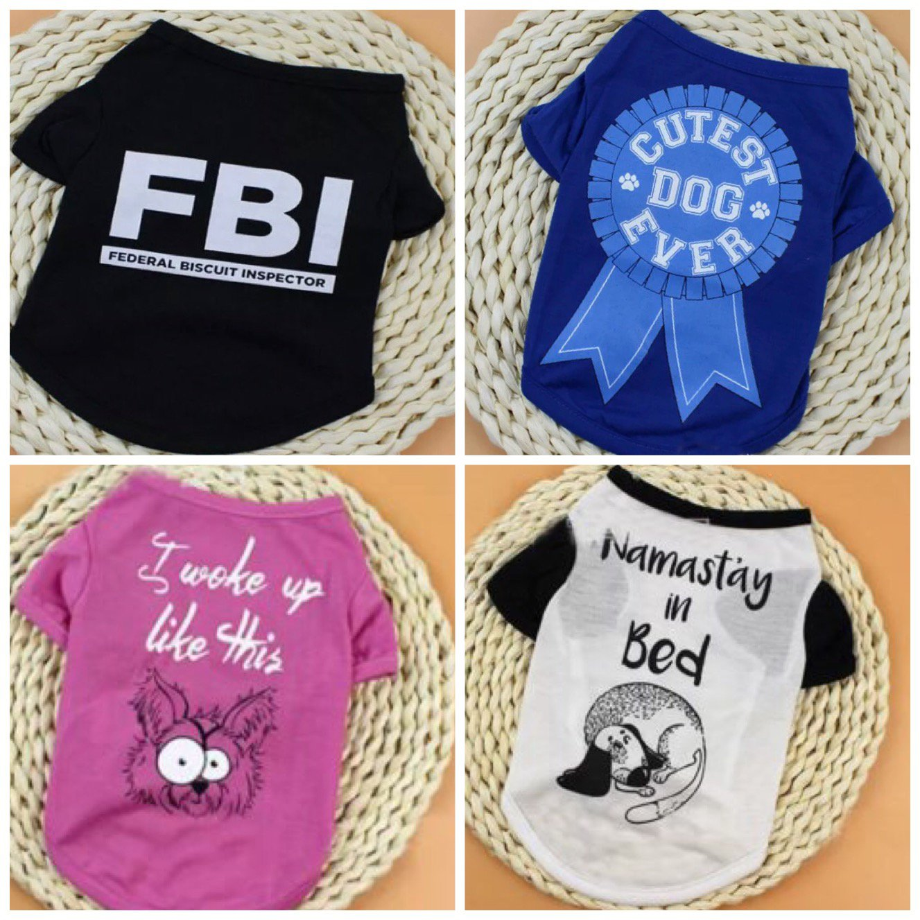 Graphic Letter Print Pet T-Shirt XS-L Puppy Dog Shirt Top Funny Pets Doggie Clothes Apparel