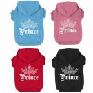 Prince Crown Pet Hoodie XS-3XL Puppy Dog Cat Warm Pullover Hooded Sweater Jacket Coat Pets Clothes