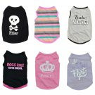 Graphic Letter Print Pet Tank Tops XS-L Puppy Dog Cat Shirt Funny Graphic Printed Summer Clothes
