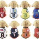 Soccer Futbol Sport Pet Jerseys XS-2XL Puppy Dog Kitten Cat Countries Teams Clothes
