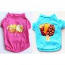 Desserts Printed Pet T-Shirt XS-XXL Puppy Dog Kitten Cat Candy Icecream Spring Summer Pets Clothes