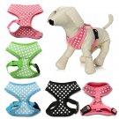 Polka Dot Pattern Pet Harness XS-XL Soft Mesh Vest Adjustable Chest Strap Collar Puppy Dog Walk
