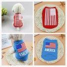 American Flag Pet Vest Tank Top XS-L Holiday Costume Puppy Dog Cat Party Pets Clothes