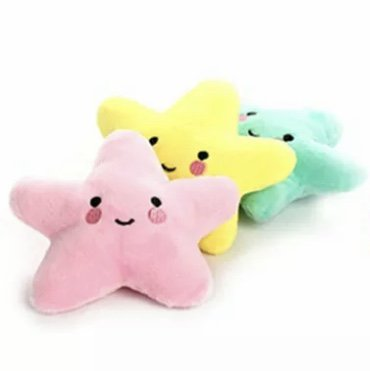 Squeaky Star Plush Pet Chew Toy Funny Shape Animal Puppy Dog Interactive Sound Squeaker Chewing Toys