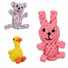Duck Pet Rope Toy Puppy Dog Tough Strong Chew Toys Cotton Rope Knot Braided Teeth Health Toys