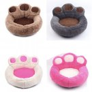 Large Paw Shape Pet Puppy Dog Bed Warm Fleece Kennel Mats Blanket Cat Beds Cushion House