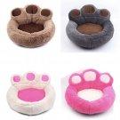Paw Print Shape Pet Bed Nest S-XL Puppy Dog Warm Fleece Kennel Mats Blanket Cat Beds Cushion House