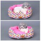 Colorful Anti-slip Bottom Pet Bed S-L Sofa Cotton Canvas Plush Cat Puppy Dog Animal Sleep Mat