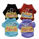 When's Dinner? Pet Printed T-Shirt XS-L Puppy Dog Cotton Shirt Funny Vest Top Pets Summer Clothes