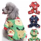 Christmas Pet Jumpsuit S-2XL Pajamas Puppy Dog Winter Pajamas Warm Clothes Jacket Holiday Apparel