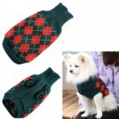 Pet Knit Pullover Sweater XS-2XL Red Green Puppy Dog Kitten Cat Warm Clothes Coat Outwear Fashion