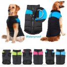 Waterproof Padded Pet Vest 3XL-7XL Zip Up Winter Warm Coat Jacket Outdoor Puppy Dog Apparel