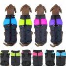 Waterproof Padded Pet Vest S-2XL Winter Warm Zip-Up Coat Jacket Outdoor Puppy Dog Apparel