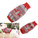 Pet Knit Reindeer Sweater XS-2XL Puppy Dog Kitten Cat Warm Clothes Coat Outwear Xmas Fashion Apparel