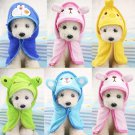 Animal Pet Bath Robe Towel S-L Cartoon Design Cat Dog Dressing Gown Pajamas Grooming Supplies