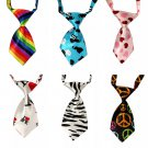 Graphic Print Patterns Pet Necktie Adjustable Puppy Dog Cat Holiday Prop Neck Tie Collar Accessories