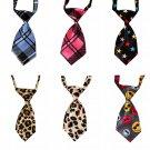 Graphic Print Patterns Adjustable Pet Necktie Puppy Dog Cat Holiday Prop Neck Tie Collar Accessories