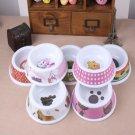 Small Pattern Print Pet Dog Bowl Melamine Puppy Kitten Pets Water Food Bowls Pet Supplies