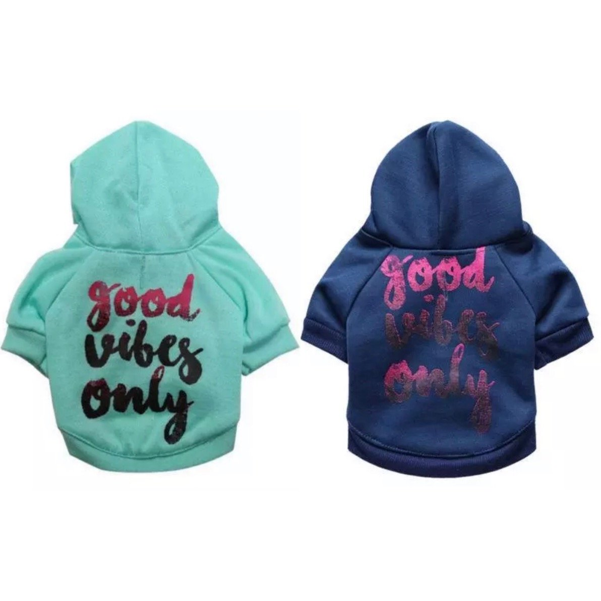 Good Vibes Only Pet Hoodie XS-L Sweatshirt Puppy Dog Warm Pullover Hooded Top Coat Pets Clothes