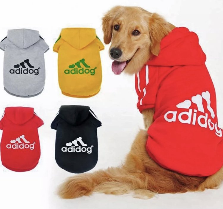 Adidog Pet Pullover Hoodie 3XL-9XL Large Dog Sweater Pet Puppy Dog Apparel Clothes Fashion Style