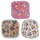 Small Soft Warm Pet Paw Print Blanket Hamster Puppy Blanket Comfortable Puppy Dog Cat Pet Mat