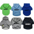Security Pet Hoodie Swatshirt XS-L Funny Print Top Puppy Dog Sweater Jacket Pets Clothes Apparel
