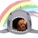 Shark Mouth Pet Bed Nest House S-L Puppy Dog Kitten Cat Comfy House Kennel Sleep Nap Warm Bed